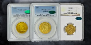 Building an Almost Uncirculated, Complete Type Set of Half Eagles (U.S. $5 gold coins)