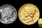 Profiles in Coinage: 2016-W Mercury Dime Gold Coin