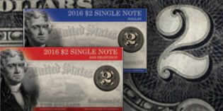 Modern US Paper Money: 2016 $2 Single Note Collection Avail. May 17