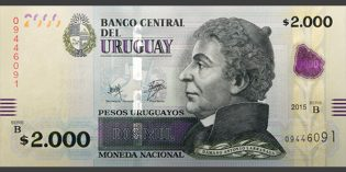 Uruguay Issues New 2,000 Peso Banknote