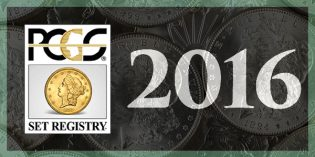 Certified Coins – 2016 PCGS Set Registry Awards Deadline