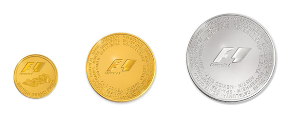 Rosland Capital Formula 1 Gold and Silver Coin Collection. Image courtesy Rosland Capital