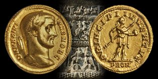 Stack's Bowers Ancient Coins: Superb Mint State Aureus of Galerius