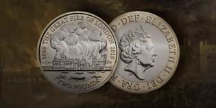 Royal Mint Issues Precious Metal Great Fire of London 350th Anniversary £2 Coin