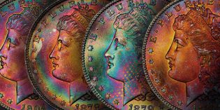 Legend Rare Coin Auctions Announces Sale of Toned Morgan Dollar Northern Lights Collection