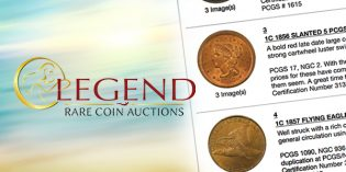 Legend Rare Coin Auctions' Inaugural Summer Sessions Internet Auction a Success