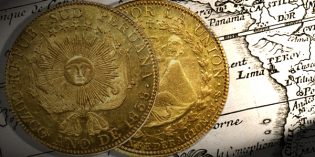 Stack's Bowers World Coins – Lovely South Peru 8 Escudos