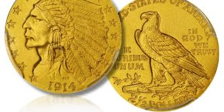 Matte Proof Gold Coin –  1914 Indian Quarter Eagle at Stack's Bowers Rarities Night Auction