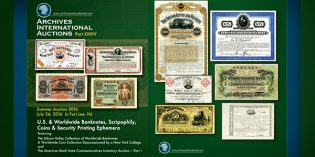 World Paper Money Auction – Archives International XXXIV July 26