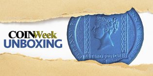 CoinWeek Unboxing: 2016 Ascension Island Two Pence Blue Crown Silver Coin – 4K Video