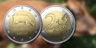 Bank of Latvia Issues 2 Euro Commemorative Coin Featuring Cow