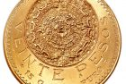 Mexico 1921 Aztec Sunstone 20 Peso Gold Coin