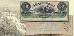 "US Paper Money – Rare T-4 $50 ""Montgomery"" at Stack's Bowers ANA Auction"