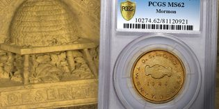 PCGS Grades Finest Known Mormon $20 Discovery Coin