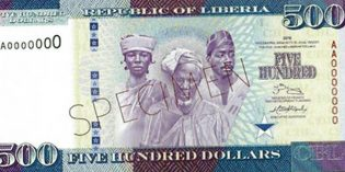 World Paper Money – Liberia to Issue New Bank Notes