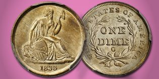 Gem 1838-O No Stars Dime at November 2016 Baltimore Rarities Night Auction