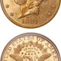 United States 1881 $20 double eagle gold coin. Images courtesy Heritage Auctions