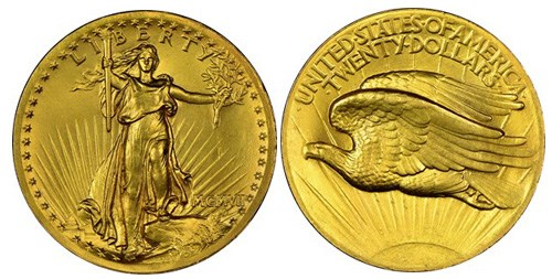 United States 1907 High Relief Double Eagle. Images courtesy NGC