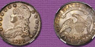 Condition Census Gem 1833 Capped Bust Half Dollar in Rarities Night Baltimore Auction