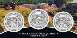 2016 America the Beautiful Quarters 3-Coin Set – Theodore Roosevelt National Park on Sale Oct. 3