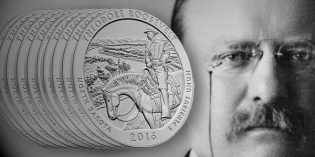 Theodore Roosevelt National Park America the Beautiful Five Ounce Silver Uncirculated Coin Available Oct. 6