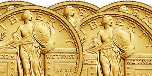 Standing Liberty Quarter Gold Coin on Sale Today