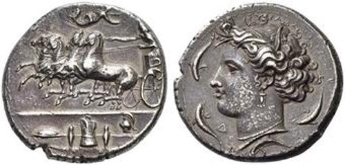 Syracuse silver Tetradrachm 412-345 BCE. Images courtesy NGC