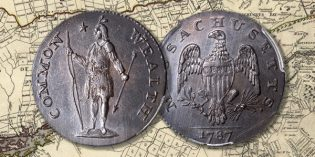"Struck Counterfeit Coin of the Week: 1787 Massachusetts ""4C"" Half Cent + 1-Page Attribution Guide"