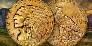 Stack's Bowers: Gem 1916-S Indian Half Eagle at Rarities Night Auction