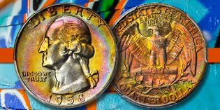 Rainbow Gem 1958-D Quarter at Stack's Bowers Rarities Night Auction