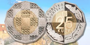Croatian National Bank Marks 25th Anniversary of Independence with New Coin