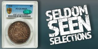 Heritage Auctions – Seldom Seen Selections: Gem 1846 Seated Dollar