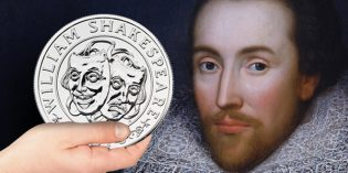 Royal Mint UK Celebrates William Shakespeare on New Proof Silver Coin