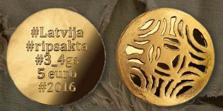 "Bank of Latvia Issues New Collector Coin ""Gold Brooches: The Disc Fibula"""