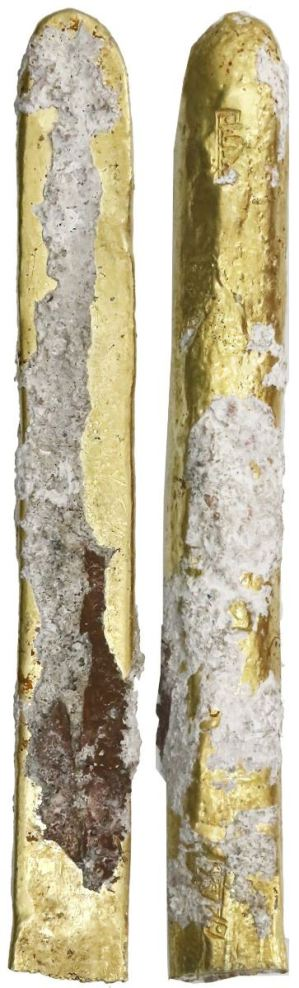 "Gold ""finger"" bar from the Golden fleece wreck. Images courtesy Daniel Frank Sedwick LLC"
