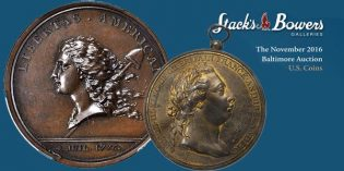 US Coins Surpass $6.5 Million at Stack's Bowers 2016 Whitman Baltimore Auction