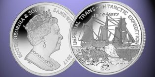 Ships on World Coins: 2017 Centenary Imperial Trans-Antarctic Expedition Coin from Pobjoy Mint