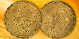 1861-P Paquet Reverse Features in $16 Million Type I Double Eagle Display at January FUN