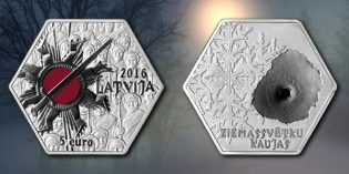 "Bank of Latvia Issues New Collector Coin ""Christmas Battles"""