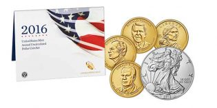 2016 U.S. Mint Annual Uncirculated Dollar Coin Set Available Dec. 14