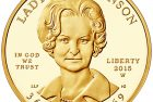 United States 2015 Lady Bird Johnson First Spouse $10 Gold Coin