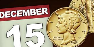 U.S. Mint Reopens 2016 Mercury Dime Gold Coin Sales on Dec. 15