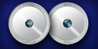 "Latvia Issues Innovative Ringed Collector Coin ""The Earth"""