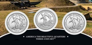Fort Moultrie (Fort Sumter Nat. Monument) America the Beautiful Quarters 3-Coin Set Avail. Dec. 5