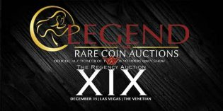 2016 Ends Strong at Legend Rare Coin Auction's 19th Regency Sale in Las Vegas
