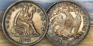 Condition Census Gem 1875-CC Liberty Seated Quarter Featured in Baltimore Rarities Night Auction