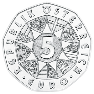 Reverse, Austria 2017 New Year: Waltzing in the New Year 2017 5 Euro Silver Coin. Image courtesy Austrian Mint