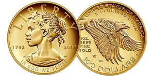 United States Mint Unveils Historic 2017 High Relief Gold Coin Design