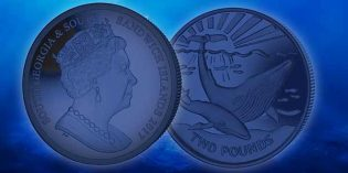New Blue Whale Titanium Coin for 2017 from Pobjoy Mint