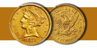 Choice AU 1871-CC Liberty Half Eagle in Stack's Bowers March 2017 Baltimore Auction